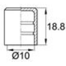 Заглушка пластиковая наружная для труб/прутков круглого сечения диаметром 10 мм.
