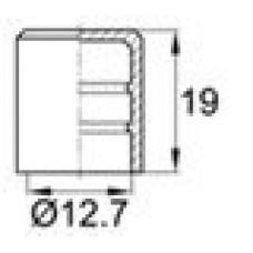 Заглушка пластиковая наружная для труб/прутков круглого сечения диаметром 12.7 мм.