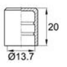 Заглушка пластиковая наружная для труб/прутков круглого сечения диаметром 13.7 мм.