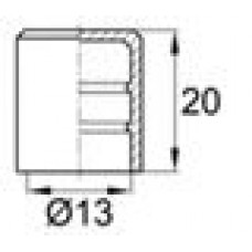 Заглушка пластиковая наружная для труб/прутков круглого сечения диаметром 13 мм.