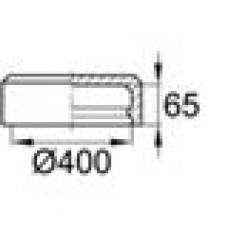 Заглушка пластиковая наружная для труб круглого сечения с внешним диаметром сечения 400 мм и любой толщиной стенки.