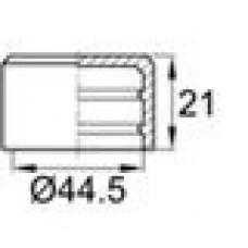 Заглушка пластиковая наружная для труб круглого сечения с внешним диаметром сечения 44.5 мм и любой толщиной стенки.