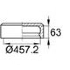 Заглушка пластиковая наружная для труб круглого сечения с внешним диаметром сечения 457.2 мм и любой толщиной стенки.