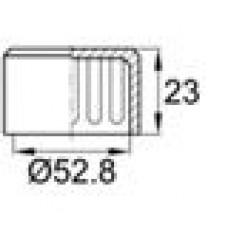 Заглушка пластиковая наружная для труб круглого сечения с внешним диаметром сечения 52.8 мм и любой толщиной стенки.