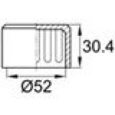 Заглушка пластиковая наружная для труб круглого сечения с внешним диаметром сечения 52 мм и любой толщиной стенки.