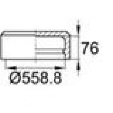 Заглушка пластиковая наружная для труб круглого сечения с внешним диаметром сечения 558.8 мм и любой толщиной стенки.