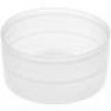 Заглушка пластиковая наружная для труб круглого сечения с внешним диаметром сечения 57 мм и любой толщиной стенки.