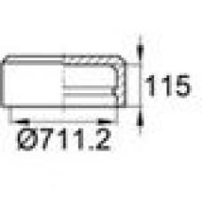 Заглушка пластиковая наружная для труб круглого сечения с внешним диаметром сечения 711.2 мм и любой толщиной стенки.
