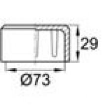 Заглушка пластиковая наружная для труб круглого сечения с внешним диаметром сечения 73 мм и любой толщиной стенки.