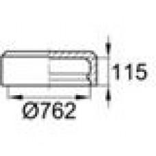 Заглушка пластиковая наружная для труб круглого сечения с внешним диаметром сечения 762 мм и любой толщиной стенки.