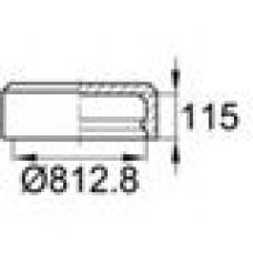 Заглушка пластиковая наружная для труб круглого сечения с внешним диаметром сечения 812.8 мм и любой толщиной стенки.