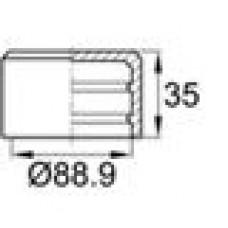 Заглушка пластиковая наружная для труб круглого сечения с внешним диаметром сечения 88.9 мм и любой толщиной стенки.
