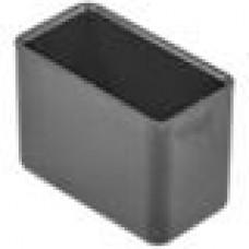 Заглушка пластиковая наружная для труб прямоугольного сечения с внешними габаритами сечения 30x15 мм.