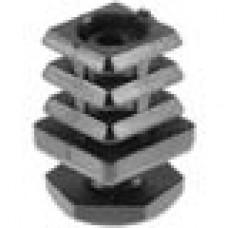 Опора пластиковая регулируемая резьбовым соединением М10x25 под трубу квадратного сечения с внешними габаритами 20х20 мм, толщина стенки трубы 1.5-2 мм
