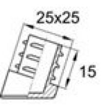 Заглушка пластиковая внутренняя с углом наклона 10 градусов, для труб квадратного сечения 25х25 мм, толщина стенки трубы 1-2 мм.