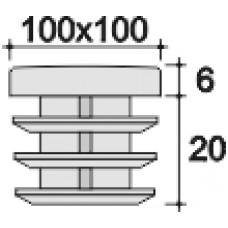 Заглушка 100х100 черная