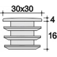 Заглушка 30х30 мм черная внутренняя