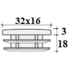 Заглушка 32х16 черная