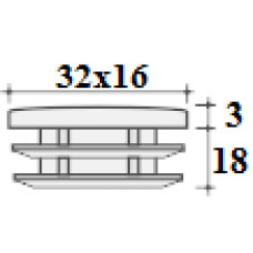 Заглушка 32х16 белая