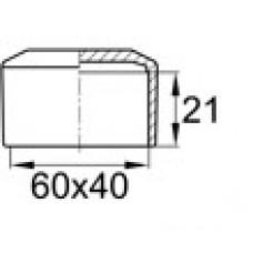 Заглушка пластиковая 40х60 черная наружная NSP/CZ
