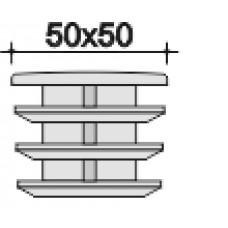 Заглушка 50х50мм черная внутренняя,