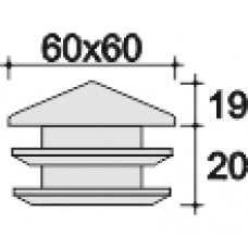 Заглушка 60х60 черная (пирамидка)