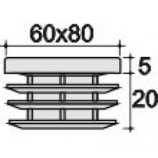Заглушка 60х80 черная