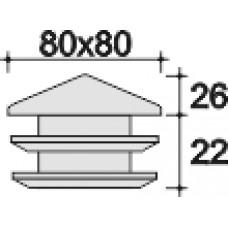 Заглушка 80х80 черная (пирамидка)