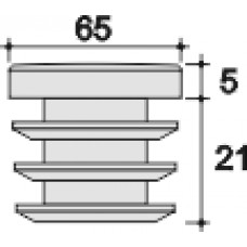 Заглушка D65 черная