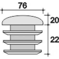 Заглушка пластиковая внутренняя с полусферической шляпкой для труб Ø76 мм и толщиной стенки трубы 1.5-5.0 мм. Красная