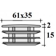 Заглушка 35х61 черная