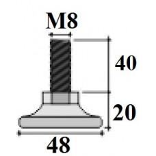 Опора D48 M8x40 мм черная