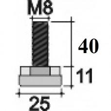 Опора D24 M8x40 мм черная