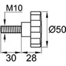 Винт прижимный М10х30  красный