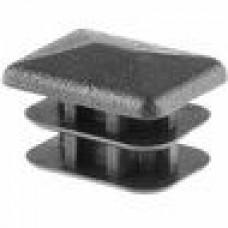 Заглушка пластиковая прямоугольная 10х20, практичная, Модель ILR, стенка 0.8-2.0 мм, черная