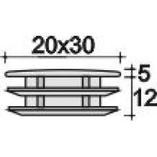 Заглушка пластиковая прямоугольная 20х30, правктичная, Серия ILR, стенка 0.8-3.0 мм, черная