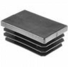 Заглушка пластиковая прямоугольная 40х60, практичная, Модель ILR, стенка 0.8-3.0 мм, чёрная