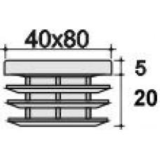 Заглушка пластиковая прямоугольная 40х80, практичная, черная