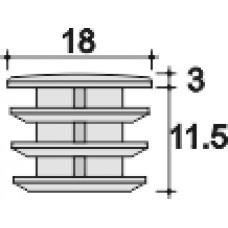 Заглушка D18 черная