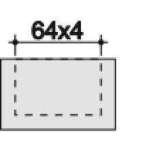 Заглушка пластиковая для пластины сечением 60х3 мм