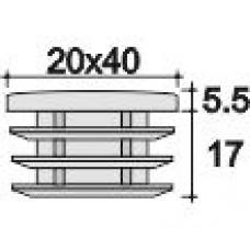 Заглушка пластиковая прямоугольная 20х40, практичная, белая