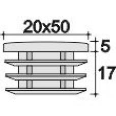 Заглушка пластиковая 20х50 внутренняя черная