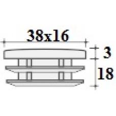 Заглушка 38х16 черная