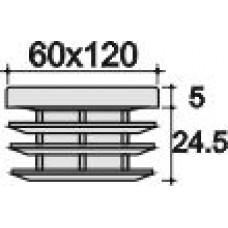 Заглушка 60х120 черная