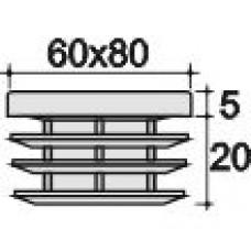 заглушка 60х80 внутренняя черная