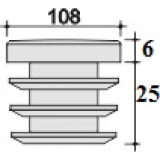 заглушка д.108 черная внутренняя