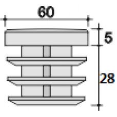 Заглушка D60 черная